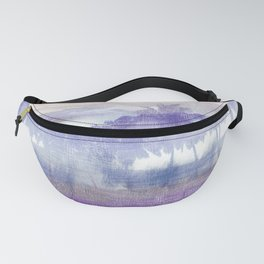 vintage tropical abstract landscape Fanny Pack