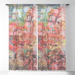 Thinking up Roses Sheer Curtain