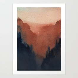 Mountain Watercolour Art Print