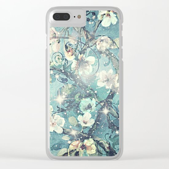 Sparkling cherry blossom tree Clear iPhone Case