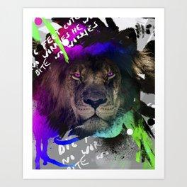 Lazer lion Art Print