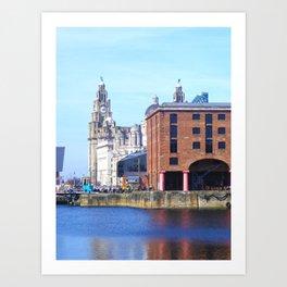 Albert Dock And the 3 Graces Art Print