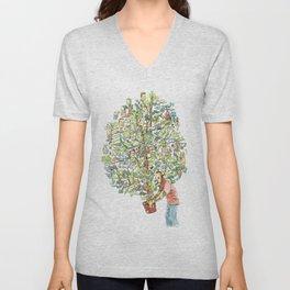 Doodle tree Unisex V-Neck