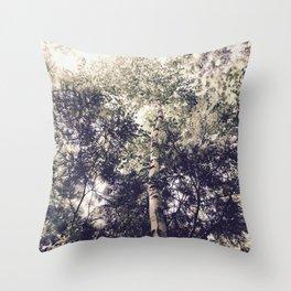 Dappled Light Filtered Through Trees Throw Pillow