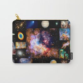 Space Galaxy Nebula Collage Carry-All Pouch