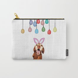 Happy Easter Vizsla Bunny Carry-All Pouch