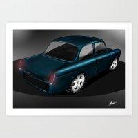 volkswagen Art Prints featuring Volkswagen Notch by JukkaA