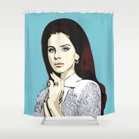 lana Shower Curtains featuring LANA by DVNJCK