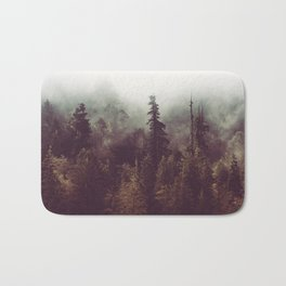 Mountain Morning Mist - Nature Photography Bath Mat