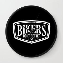 BIKERS DO IT BETTER SHIELD Wall Clock