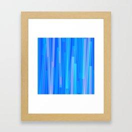 Geometric Blue Pink Painting Framed Art Print