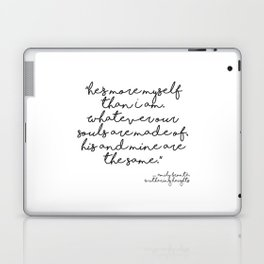 More myself than I am - Bronte quote Laptop & iPad Skin