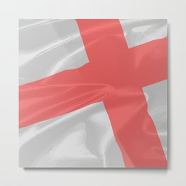Silk Flag of Saint George Metal Print