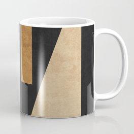 Geometric Harmony Black 02 - Minimal Abstract Coffee Mug