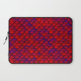 Red Purple Scales Laptop Sleeve