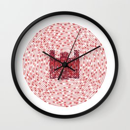 Death At Your Doorstep Wall Clock