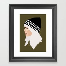 Feminist (Gold) Framed Art Print