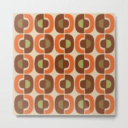 Retro Mid Century Modern Pattern 335 Metal Print