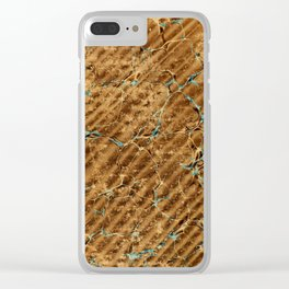 Marbled Paper – Scorched Earth Clear iPhone Case