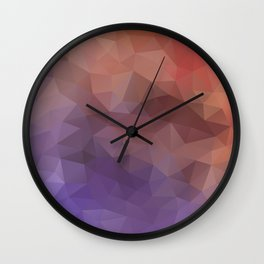 Triangles design in purple and brown colors Wall Clock