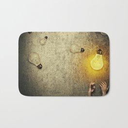 light bulbs juggling Bath Mat