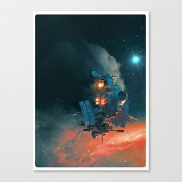 Ghostship 2 Canvas Print