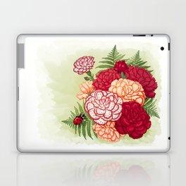 Full bloom | Ladybug carnation Laptop & iPad Skin