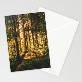 Woods  - Forest, green trees outdoors photography Stationery Cards