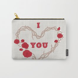 The heart of a wreath Carry-All Pouch