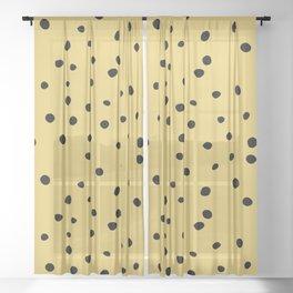 Leopard Print Sheer Curtain