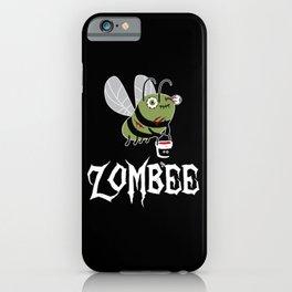 Zombie Zombee Zombie Apocalypse Halloween Costume iPhone Case