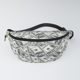 Giant money background 100 dollar bills / 3D render of thousands of 100 dollar bills Fanny Pack