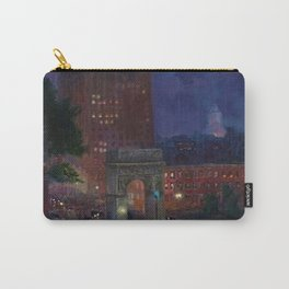 American Masterpiece 'Wet Night, Washington Square, Greenwich Village, NY' by John French Sloan Carry-All Pouch