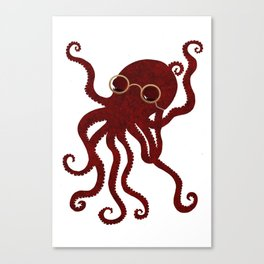The Octopus who likes to read  Canvas Print