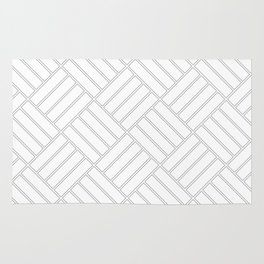 Checkered Grey Pattern | Squares | Rectangle | Cool Grey Rug