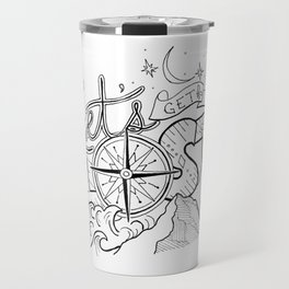 Let's Get Lost Travel Mug