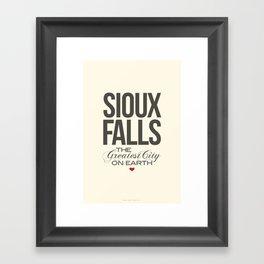 Sioux Falls Poster Framed Art Print