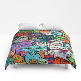 Crazy Cats Color  Comforters