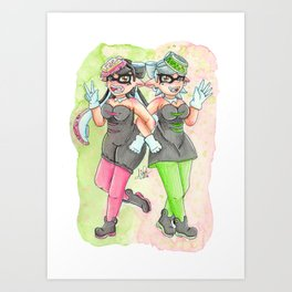 Squid Sisters - Callie & Marie Art Print