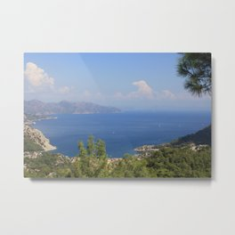 The Blue Bay of Turunc Metal Print