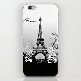 Eiffel Tower Paris (B/W) iPhone Skin