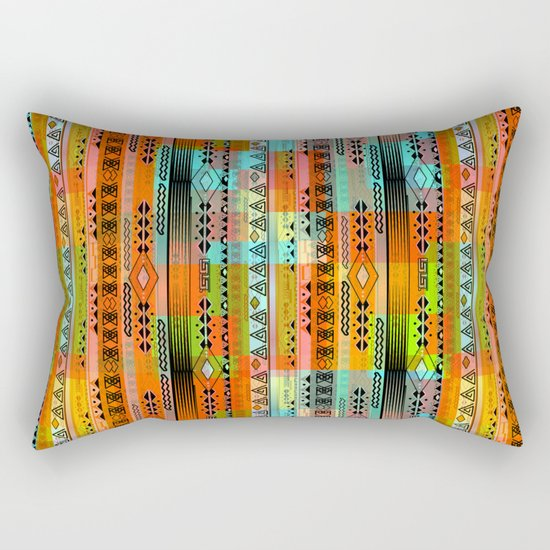 Abstraction. The rainbow pattern. 1 Rectangular Pillow