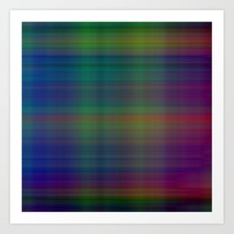 background of multicolored lines forming pictures Art Print