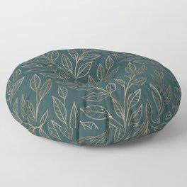 Botanical Pattern - Bronze N7 Floor Pillow