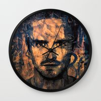 jesse pinkman Wall Clocks featuring Jesse Pinkman by Sirenphotos