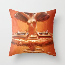 Atomic DJ Throw Pillow