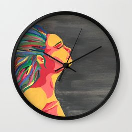 Girl with the Colored Hair Wall Clock