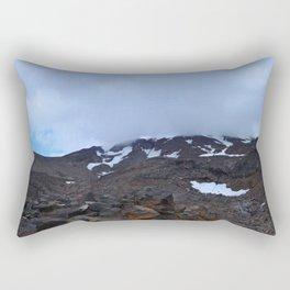 Storm moving over Mount Ruapehu. Rectangular Pillow