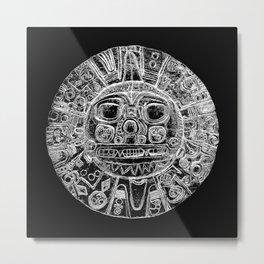 Inti - Sun God - Inca civilization - Gold Disk - Pre-Columbian cultures Metal Print