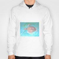 sea turtle Hoodies featuring Turtle by Victoria Bladen